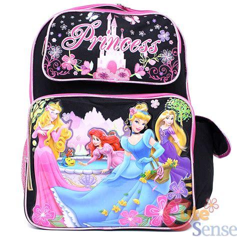 Import Tas Backpack Mermaid Size M disney princess large school backpack lunch bag 2pc set black pink with tangled ebay