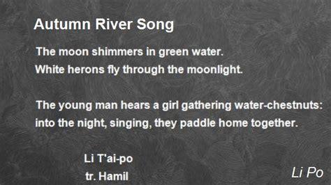 autumn river song poem  li po poem hunter