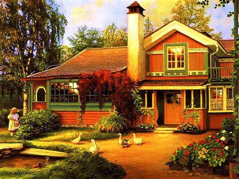 country cottage wallpaper beautiful cottage hd cool wallpaper free
