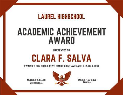 academic achievement certificate template customize 534 award certificate templates canva