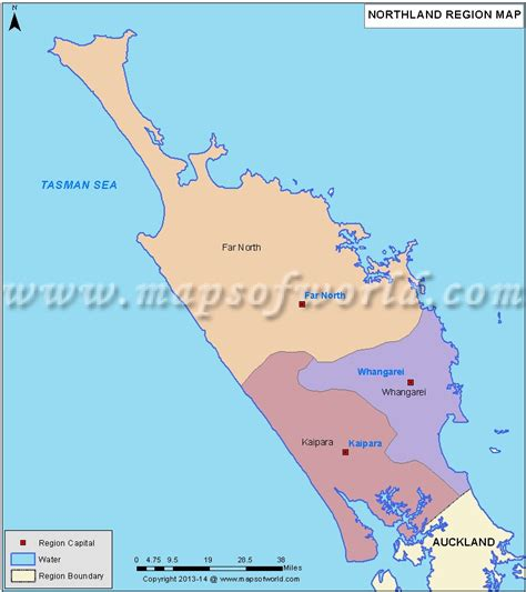 us area code nz northland map