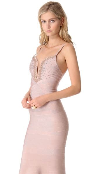 Priscilla Maxidress lyst herv 233 l 233 ger priscilla maxi dress in pink