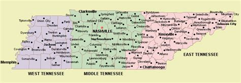 Tennessee Map With Cities And Towns by Maps United States Mapyou May Click On Map To Enlarge It