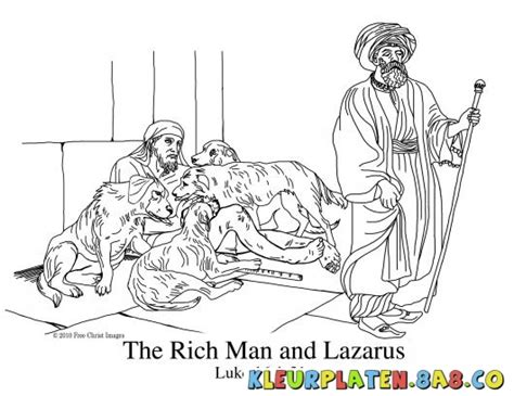Bible Rich Man And Lazarus Coloring Pages Sketch Page sketch template