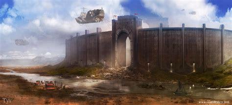Minecraft Wall Murals tyr city walls by jordangrimmer on deviantart