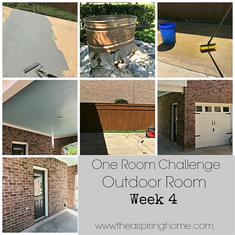 one room challenge outdoor room details week 4 coming together the