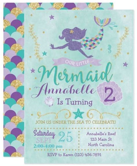 Mermaid Baby Shower Invites by 25 Best Ideas About Mermaid Invitations On