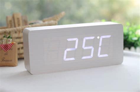 Jam Alarm Led Wood wood grain led alarm clock 187 gadget flow