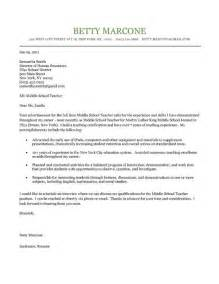 Cover Letter Example Of Teacher Middle School Teacher Cover Letter Example Middle School