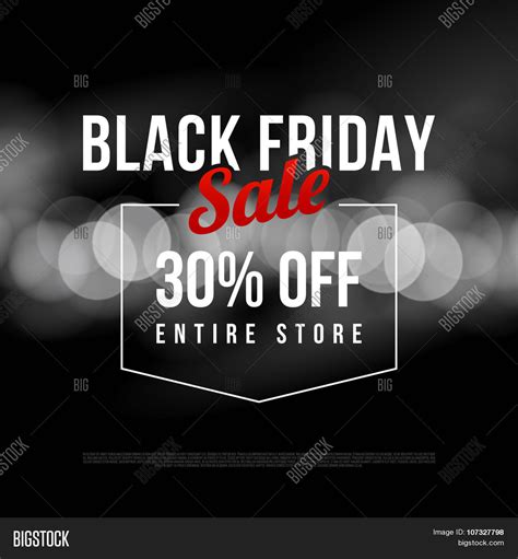Black Friday Sale Ad Template Vector Photo Bigstock Mailchimp Black Friday Template