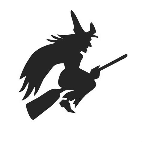 flying witch decoration flying witch decal decor scary decor