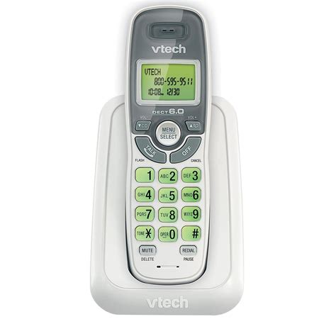 house phone amazon com vtech cs6114 dect 6 0 cordless phone with caller id call waiting white