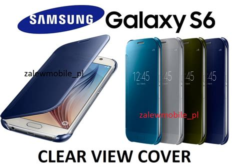 S View Cover S6 2 zalewmobile oryginalne etui clear view cover samsung galaxy s6 g920