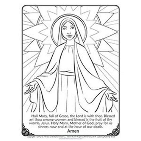 mary catholic coloring page free printable catholic