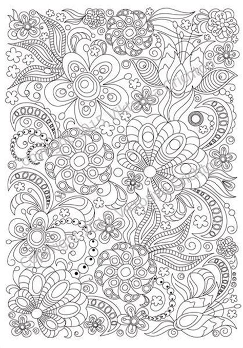 floral inspirations a detailed floral coloring book books coloring page doodle flowers zentangle inspired