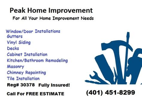 peak home improvement home improvement ri 401 451