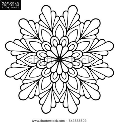 abstract coloring page flower mandala stock vector
