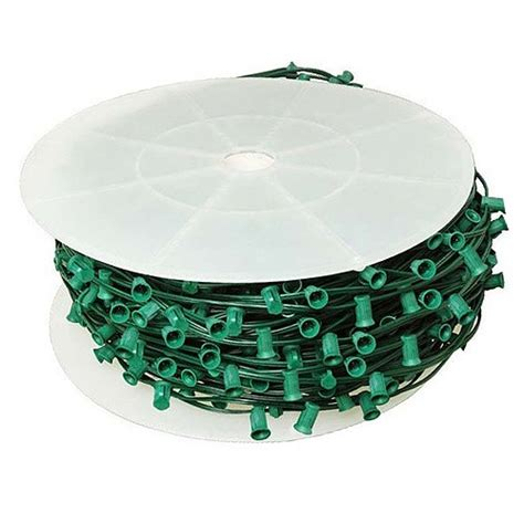 led green c9 christmas light bulk spool stringer blank