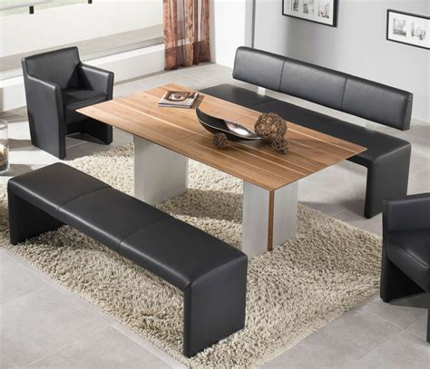 Furniture Leather Conservatory Dining Bench Evita Dining Modern Dining Tables With Benches