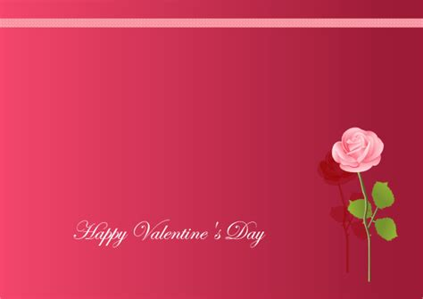 valentines day card template for s card free s card templates