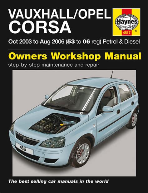 what is the best auto repair manual 2006 kia spectra interior lighting haynes manual vauxhall opel corsa petrol diesel 2003 2006