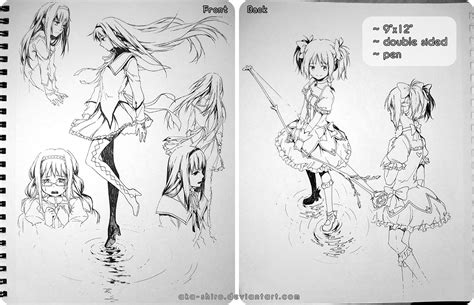sketchbook sale sketchbook page 7 madoka auction closed by aka shiro on