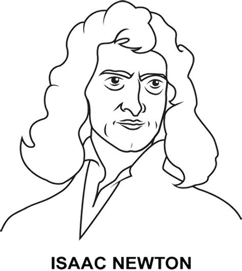coloring page of baby isaac good looking face isaac newton coloring page kids