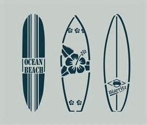 pochoir en vinyle adh 233 sif planches de surf bord de mer