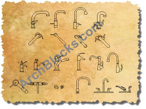 Bathtub Faucet Shower Autocad Plumbing Block Library Autocad Block Of Shower