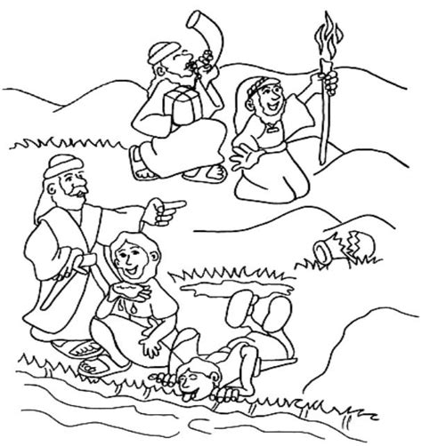 coloring page for gideon judges gideon for kids on pinterest bible stories
