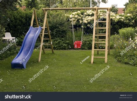 swing in garden playground in garden with swing stock photo 2353972