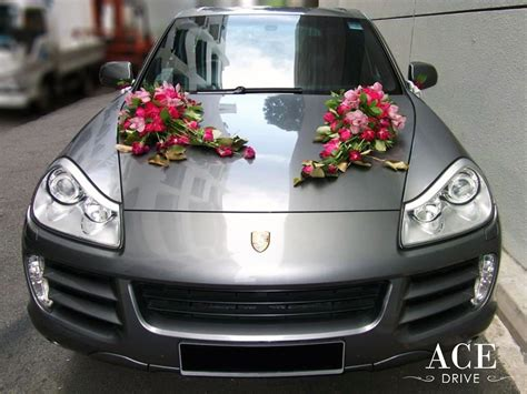 Car Decorations by Porsche Cayenne S Wedding Car Decorations