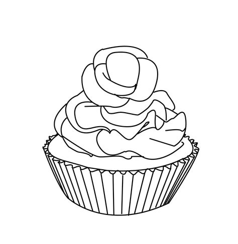 cupcake coloring pages bestofcoloring com