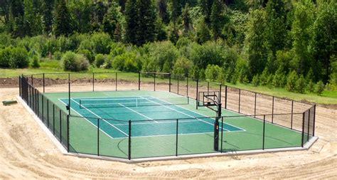 backyard tennis residential gallery snapsports news