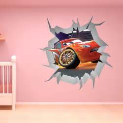 Lightning Mcqueen Wall Stickers Large Disney Cars Wall Stickers Boys Lightning Mcqueen
