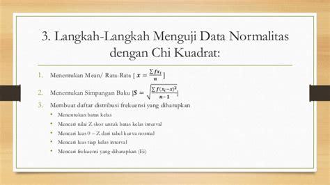 cara menghitung uji normalitas chi kuadrat uji normalitas dan homogenitas