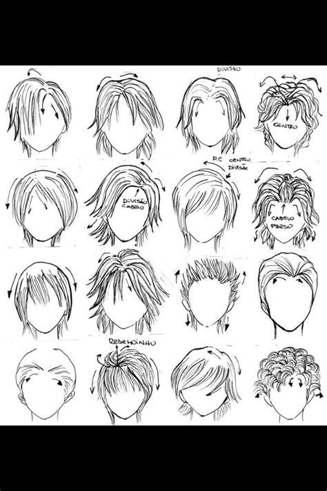 hairstyles of anime anime hairstyles drawing pinterest boys manga and hair