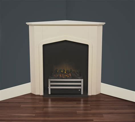 Fireplaces Cheshire by Adam Cheshire Effect Corner Fireplace Suite With
