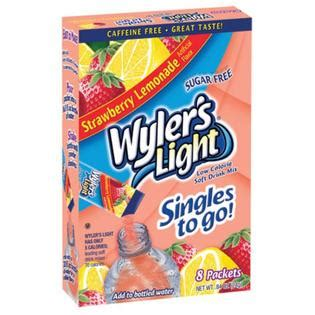wyler s light singles to go nutritional information wyler s light wylers light 8ct powdered drink singles to