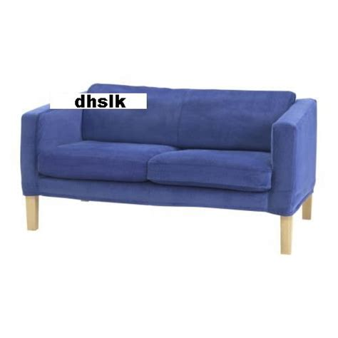 blue corduroy couch ikea lund hogen 2 seat loveseat sofa slipcover cover