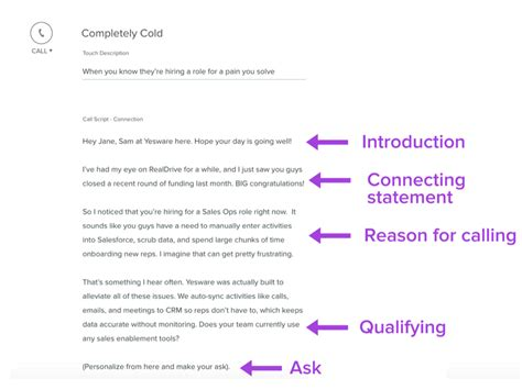 cold call script template sales call script exles how to overcome objections and