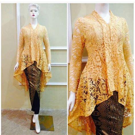 Blouse Batik Serasi Verina Kuning kutu baru modern dresses kebaya modern and brokat