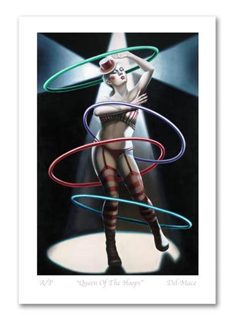 the tattoo queen gill del mace gill del mace limited edition art print evil clown art