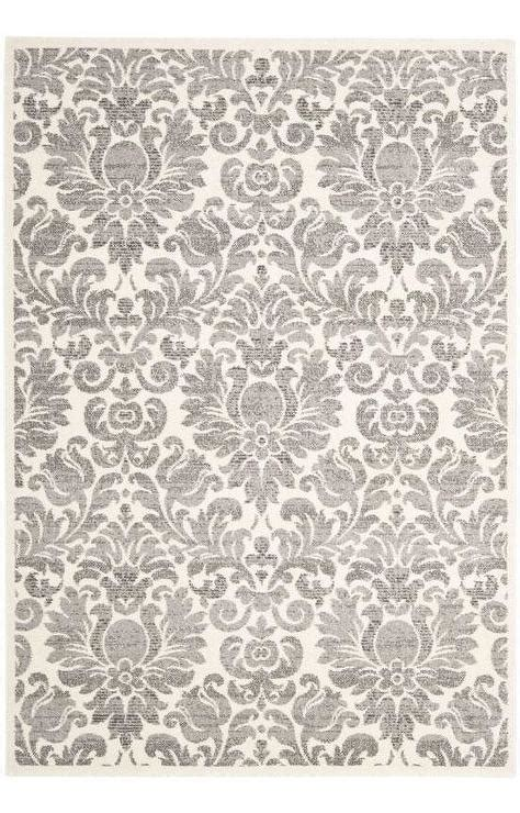 safavieh porcello rug safavieh porcello grey and ivory damask rug