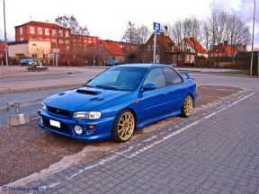 Subaru Impreza Gt Subaru Impreza Gt A Blue Subaru Impreza Gt With A