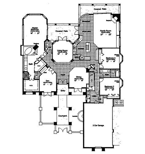 adobe floor plans adobe hill luxury sunbelt home plan 047d 0180 house