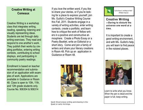 leaflet writing layout creative writing brochure