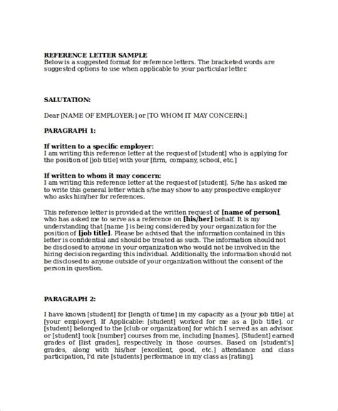 Corporate Business Reference Letter business referral letter template letters free sle