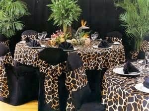 table settings for a safari themed party o brien
