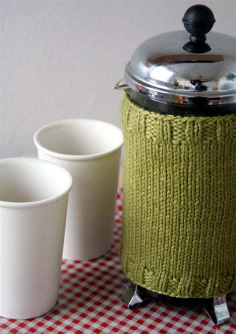 pattern for french press cozy diy wednesdays knitted french press cozy design sponge